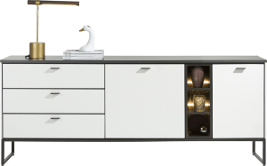 dressoir 200 cm - 2-deuren + 3-laden + 3-niches (+ led)