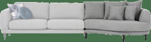 lounge end inclusief 3 rugkussens big - rond - rechts