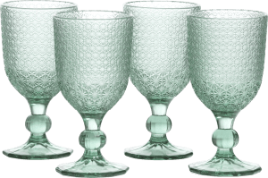 amalfi set of 4 glasses h17cm