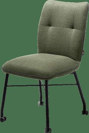 chaise avec roulettes + ressorts ensaches - avec poignee en catania noir - tissu vito