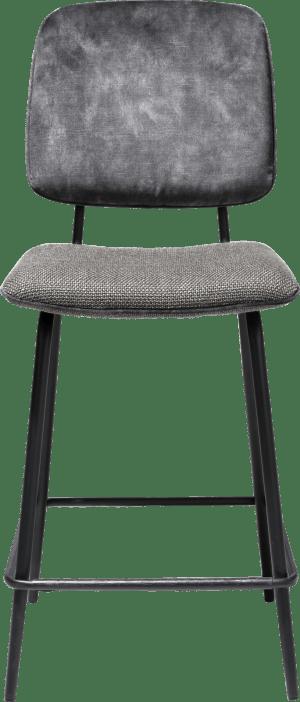chaise de bar - cadre off black - dossier en tissu karese & siege en tissu vito