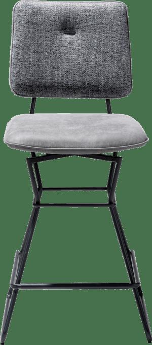 chaise bar - fonction pivotante -cadre noir - combi kibo / fantasy