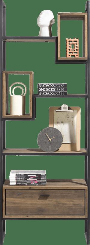 roomdivider 70 cm. - 1-tiroir t&t + 2-boxen + 4-niches