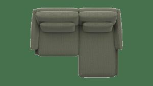 1 Zits XL arm links - longchair rechts