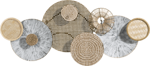 natural circles 3d wall deco 59x135cm