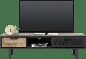 meuble tv 160 cm. - 2-tiroirs + 1-niche