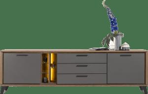 sideboard 240 cm. - 2-tueren + 3-laden + 5-nisches (+ led)