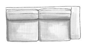 3-zits arm rechts - fix