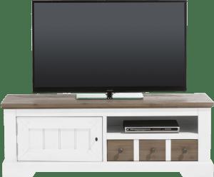tv-dressoir 140 cm - 1-deur + 1-lade + 1-niche