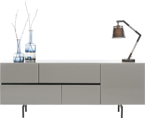 buffet 190 cm - 1-porte + 4-tiroirs