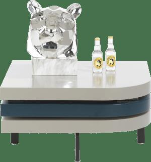 table basse 75 x 75 cm - avec plateau pivotant