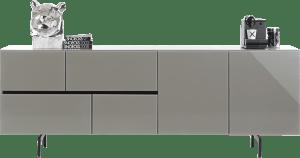 dressoir 230 cm - 2-deuren + 4-laden