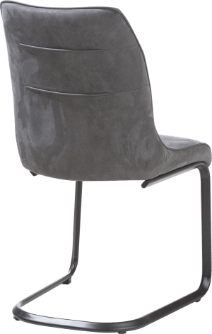 chaise - calabria avec passepoil moreno anthracite