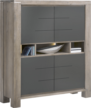 highboard smal 4-deuren + 3-niches (+ led)