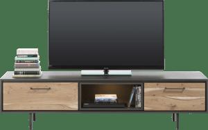 meuble tv 180 cm - 1-tiroir + 1-porte rabattante + 1-niche (+ led)