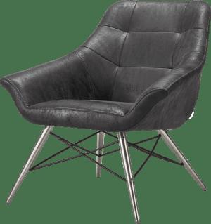 fauteuil rvs + stof leopard