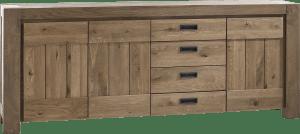 dressoir 230 cm - 3-deuren + 3-laden