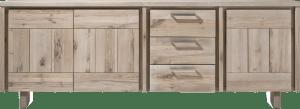 sideboard 240 cm - 3-tueren + 3-laden - holz