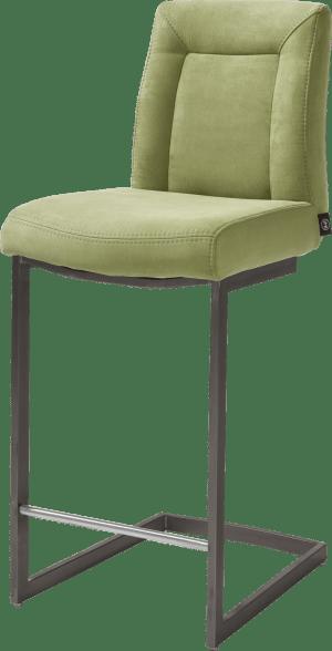 chaise bar - pied traineau metal vintage carre avec poignee