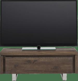 tv-sideboard 100 cm - 1-klappe - edelstahl