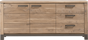 dressoir 190 cm - 2-deuren + 3-laden
