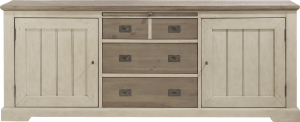 sideboard 220 cm - 2-tueren + 3-laden + 1-tablett