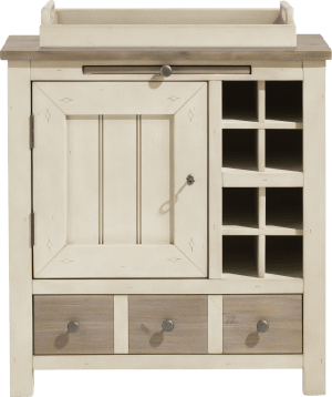kast 79 cm - 1-deur + 1-lade + 1-dienblad + 8-niches