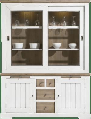 buffet 2-schuifdeuren+ 2-deuren+ 3-laden+ 2-uitschuiftrays (+ led)