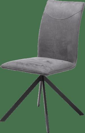 chaise - 4 pieds en metal noir - tissu kibo