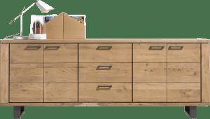 dressoir 240 cm - 4-deuren + 3-laden