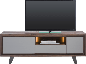 lowboard 170 cm 1-porte + 1-tiroir +1-porte rabattante +1-niche (+led)
