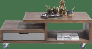 table basse 60 x 120 cm + 1-tiroir t&t + 2-niches