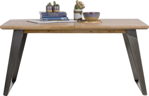 table a rallonge 160 (+ 50) x 100 cm - pied carre