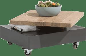 salontafel 80 x 70 cm - draaiende top