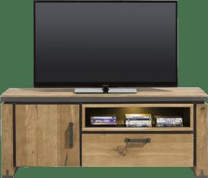 lowboard 150 cm - 1-porte + 1-tiroir + 1-niche (+ led)