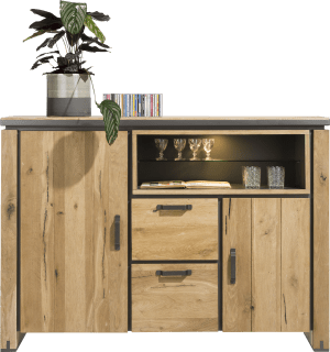 highboard 170 cm - 2-tueren + 2-laden + 2-nischen (+ led)