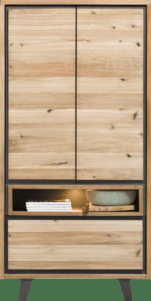 armoire 100 cm - 2-portes + 1-tiroir + 1-niche (+ led)