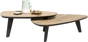 table basse - 2 parties - environ 115 x 90 cm & 102 x 61,5 cm