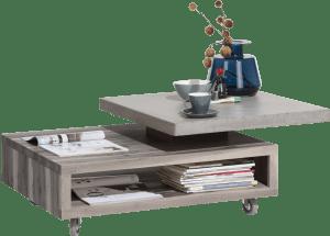 table basse 90 x 70 cm - plateaux pivotant