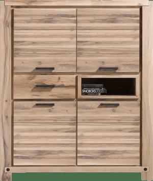 armoire 140 cm - 4-portes + 1-tiroir + 1-niche (+ led-spot)