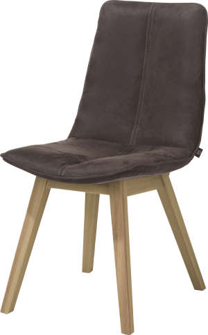 chaise - pied hetre couleur cigar brown - kibo cognac / coffee