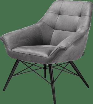 fauteuil cadre noir + tissu kibo