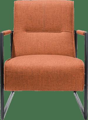 fauteuil met arm metaal off black