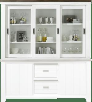 bovenkast 3-glazen schuifdeuren (+ 23700)