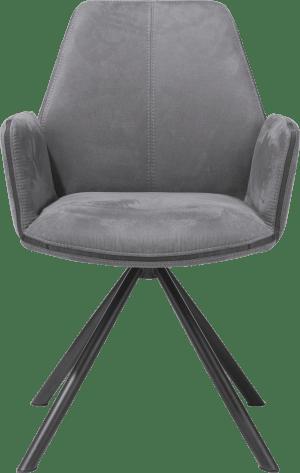 armlehnstuhl - pulverbeschichtet schwarz gestell - kibo