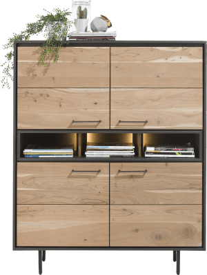 highboard 4-deuren + 3-niches (+ led)
