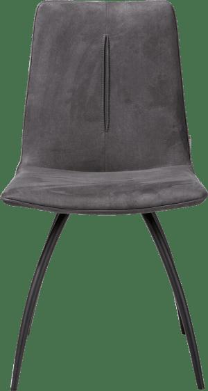 chaise 4-pieds courbes - noir - avec piqure