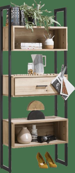 boekenkast 80 cm - 1-lade + 5-niches