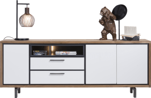 buffet 210 cm - 3-portes + 2-tiroirs + 2-niches (+ led)