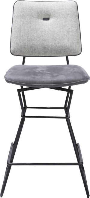 chaise bar - cadre noir - kibo anthracite / lady - passepoil kibo ant